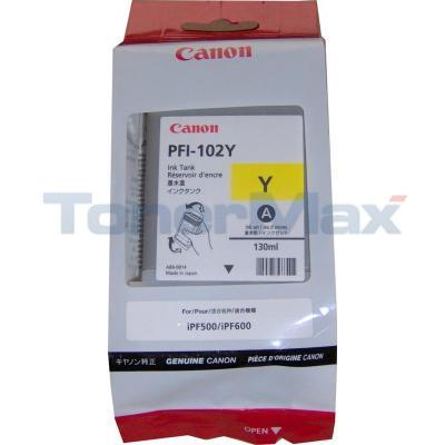 CANON PFI-102Y INK TANK YELLOW 130ML